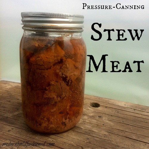 pressure canning stew meat