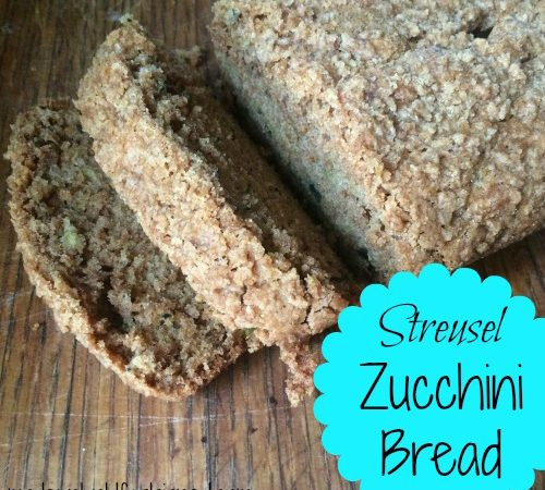 The Best Streusel Zucchini Bread