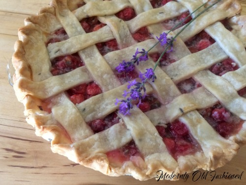 Award Winning Lavender Cherry Pie